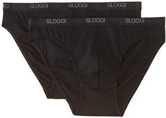 Sloggi Men's Basic Mini Briefs 2P,(Manufacturer Size: 36)