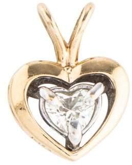Pendant 14K Diamond Two-Tone Heart Pendant