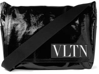 Valentino Garavani Coated-Twill Messenger Bag - Black