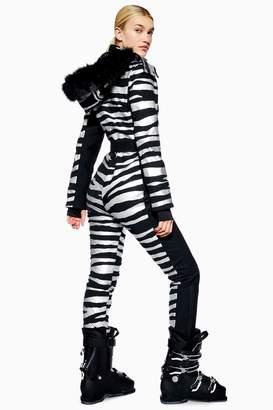 Topshop Womens **Zebra Snow Suit By Sno - Black
