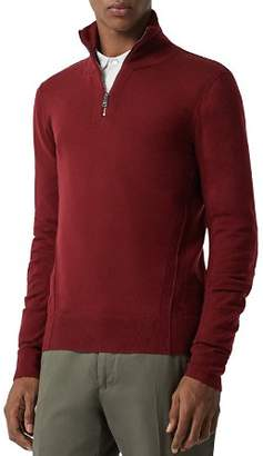 Burberry Connor Seamed Half-Zip Sweater