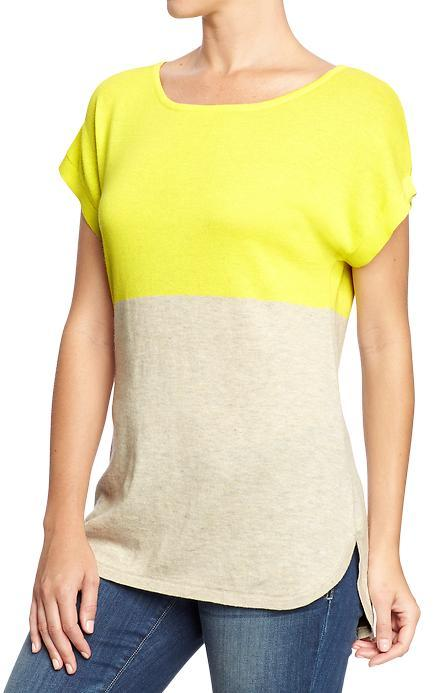 Old Navy Women's Colorblock Dolman-Sleeve Sweaters
