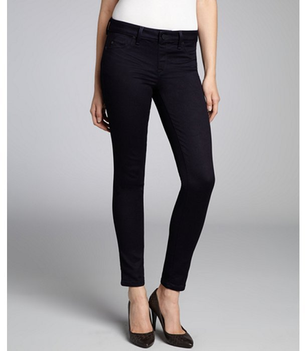 Sold Denim dark indigo cotton blend 'Soho' stretch skinny jeans