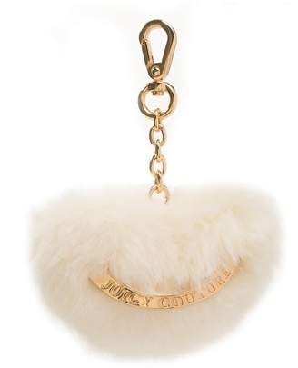 Juicy Couture Fuzzy Heart Bag Charm