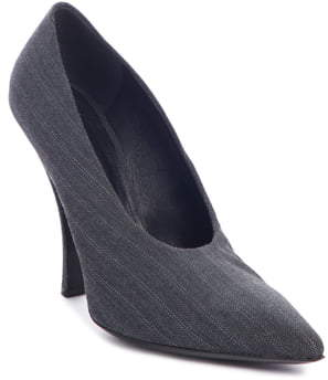 Dries Van Noten Pinstripe Pointed Toe Pump
