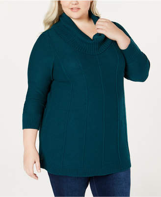 Belldini Belle by Plus Size Cowl-Neck Sweater