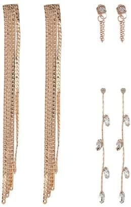 Free Press Snake Chain Linear Drop Earrings - Set of 3