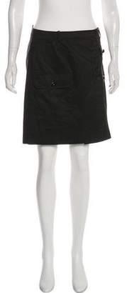 Balenciaga Button-Up Mini Skirt