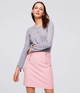 LOFT Double Zip Bi-Stretch Skirt