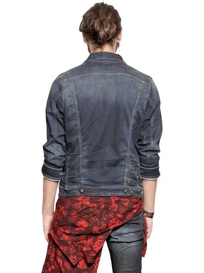 Diesel Techno Fleece Denim Effect Casual Jacket