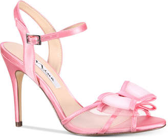 Nina Charm Bow Evening Dress Sandals Women's Shoes