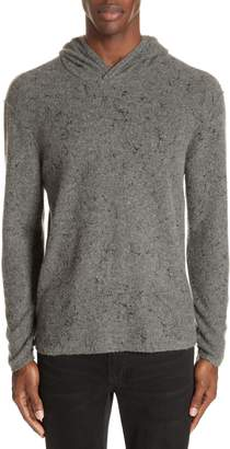 John Varvatos Collection Wool Cashmere Hooded Sweater
