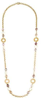 Yvel 18K Pearl Station Necklace