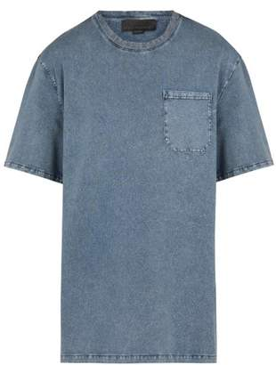 Stella McCartney Crew Neck Dyed Cotton Jersey T Shirt - Mens - Blue