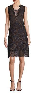Elie Tahari Anne Metallic Lace Dress $498 thestylecure.com