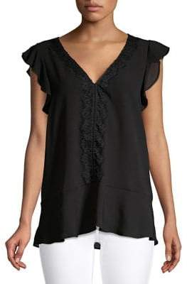 MICHAEL Michael Kors Ruffled Lace Top