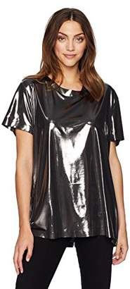 Norma Kamali Women's Short Sleeve Boxy Top