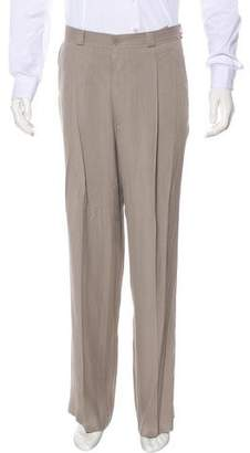 Bottega Veneta Belt-Accented Pleated Pants