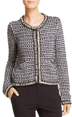 Tory Burch Embellished Metallic Knit Jacket