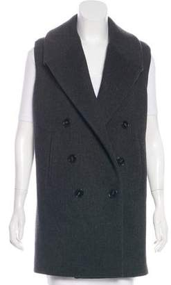 Stella McCartney Wool & Cashmere Double-Breasted Vest