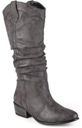 Co Brinley Women's Faux Leather Slouch Riding Boots