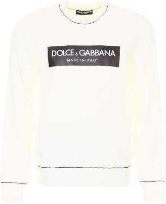 Dolce & Gabbana Wool Pullover With Logo