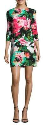 Nicole Miller New York Floral-Print Pull-On A-Line Dress