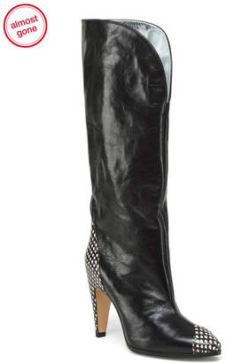 Givenchy Made In Italy Knee High Leather Show Boots