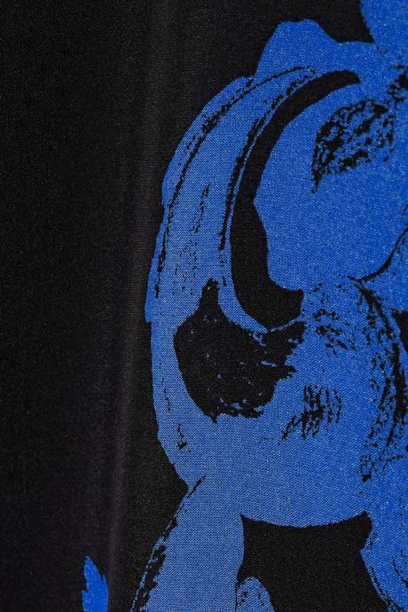 Tibi Printed silk top