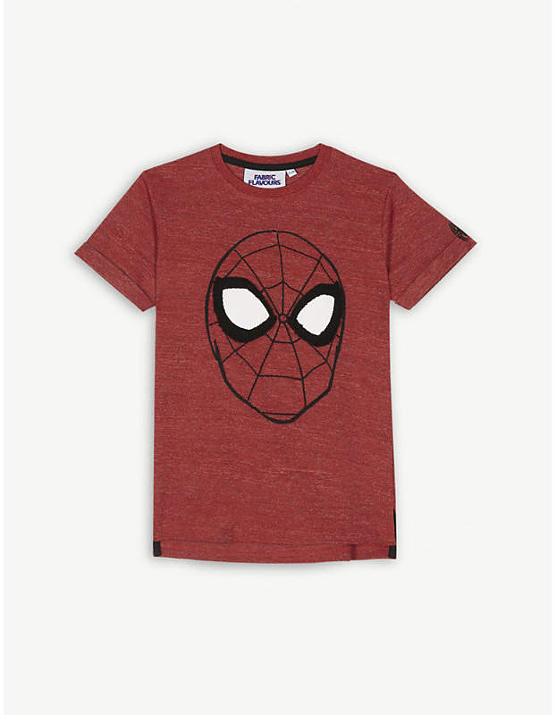 Fabric flavours Embroidered Spiderman cotton-blend T-shirt 3-10 years