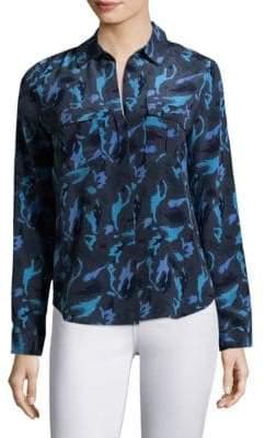 L'Agence Valerie Safari Silk Blouse