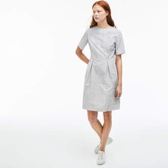 Lacoste (ラコステ) - プリーツ ミニチェック ポプリン Aラインドレス