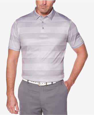PGA Tour Men's Pro Series Double-Knit Stripe Performance Polo