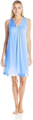 Vanity Fair Coloratura Women`s Short Nightgown, XL