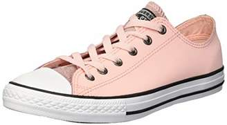 Converse Girls' Chuck Taylor All Star Glitter Leather Low Top Sneaker