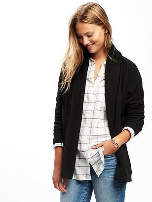 Shawl-Collar Open-Front Cardi for Women $32.94 thestylecure.com