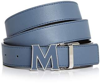 MCM Enamel Logo Buckle Leather Belt