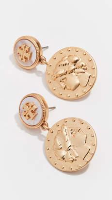 Tory Burch Coin Short Drop Earrings