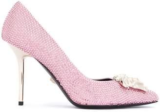 Versace embellished Medusa pumps