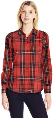 Foxcroft Women's Long Sleeve Holiday Tartan Shirt