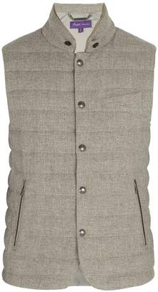 Ralph Lauren Purple Label Whitwell quilted wool and cotton-blend down gilet