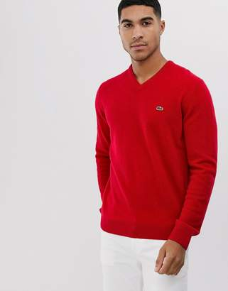 Lacoste v neck jumper