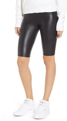 Spanx R) Faux Leather Bike Shorts