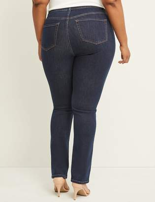 Lane Bryant Curvy Fit High Rise Straight Jean - Ink Dark Wash