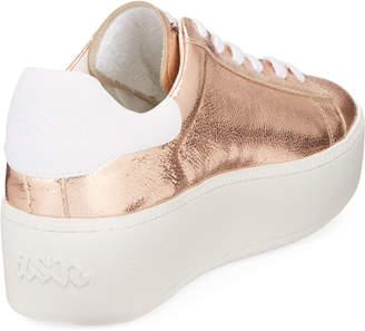 Ash Cult Metallic Platform Sneakers, Rose Gold