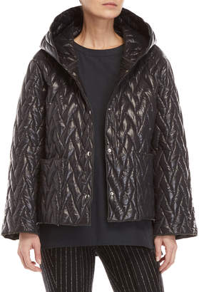 Hache Hooded Quilted Jacket