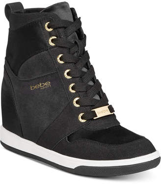 Bebe Sport Charlane Wedge Sneakers Women Shoes