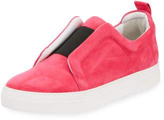 Pierre Hardy Slider Suede Slip-On Low-Top Sneaker
