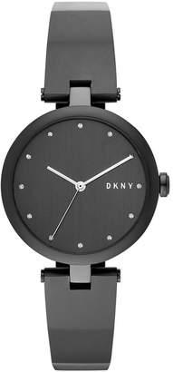 DKNY Women's Eastside Black Stainless Steel Bangle Bracelet Watch 34mm, Created for Macy's