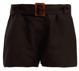 Albus Lumen - Paloma Linen Shorts - Womens - Black